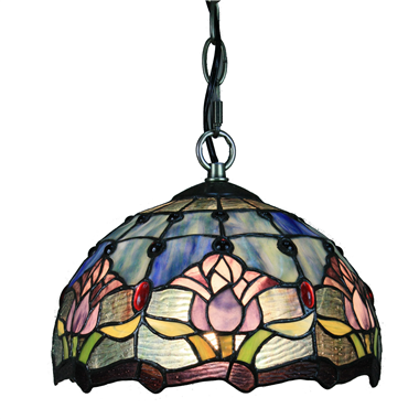 PL100016 10 inch Tiffany Style tulip 1-light Pendant Lamp with chain  hanging lamp