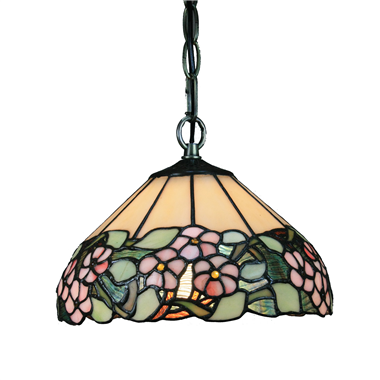 PL100017 10 inch Tiffany Style grape 1-light Pendant Lamp with chain  hanging lamp