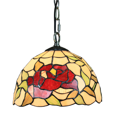 PL100018 10 inch Tiffany Style flower 1-light Pendant Lamp with chain  hanging lamp