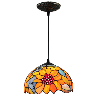 PL100021 10 inch Tiffany Style sun flower 1-light Pendant Lamp with chain  hanging lamp