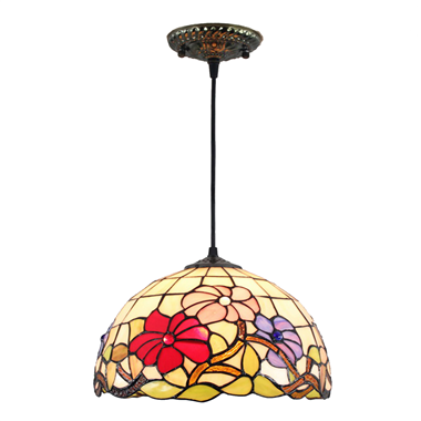 PL120006 12 inch FlowerTiffany Style Pendant Lamp hanging lamp