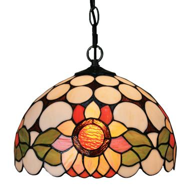 PL120008 12 inch Sunny flower Tiffany Style Pendant Lamp stained glass hanging lighting