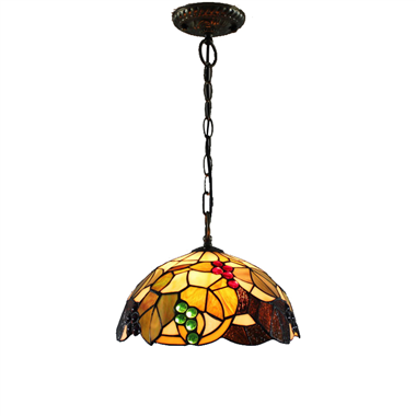 PL120014 12 inch Grape Tiffany Style Pendant Lamp stained glass hanging lighting