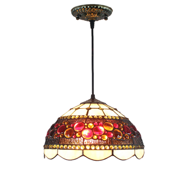 PL120016 12 inch Tiffany Style Pendant Lamp stained glass hanging lighting