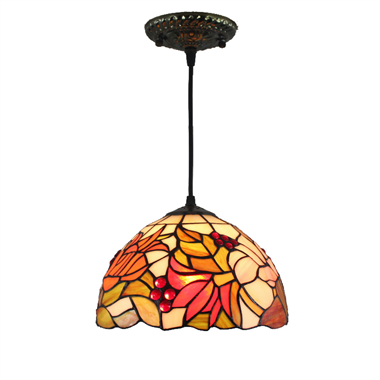PL120019 12 inch Tiffany Style Pendant Lamp stained glass hanging lighting