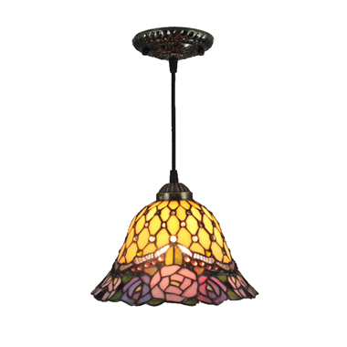 PL120028 12 inch Tiffany Style Pendant Lamp stained glass hanging lighting