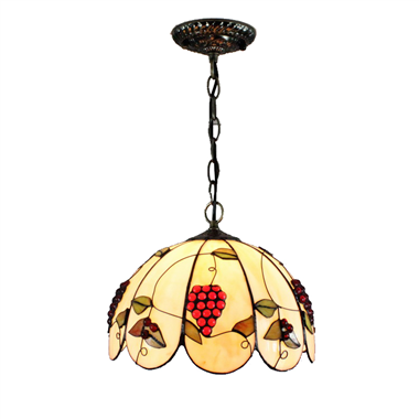 PL120031 12 inch Grape Tiffany Style Pendant Lamp stained glass hanging lighting