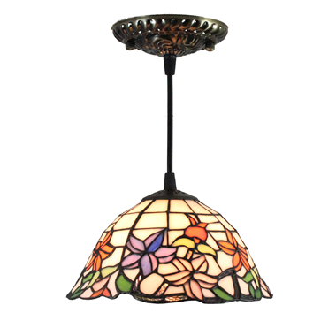 PL080001 8 inch Tiffany Style Flower 1-light Pendant Lamp hanging lamp