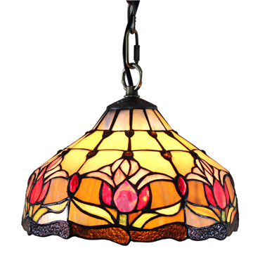 PL080002 8 inch Tulips Tiffany Style Pendant Lamp stained glass hanging lighting