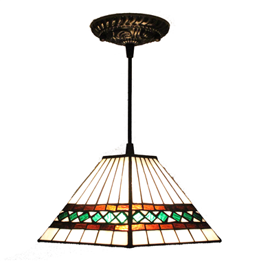 PL080003 8 inch Tiffany Style Pendant Lamp stained glass hanging lighting