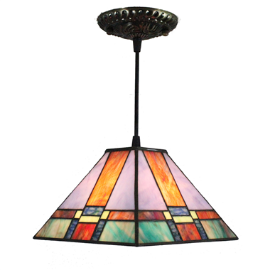 PL080004 8 inch Tiffany Style Pendant Lamp stained glass hanging lighting