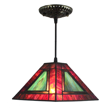PL080005 8 inch Tiffany Style Pendant Lamp stained glass hanging lighting