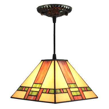 PL080010 8 inch Tiffany Style Pendant Lamp stained glass hanging lighting