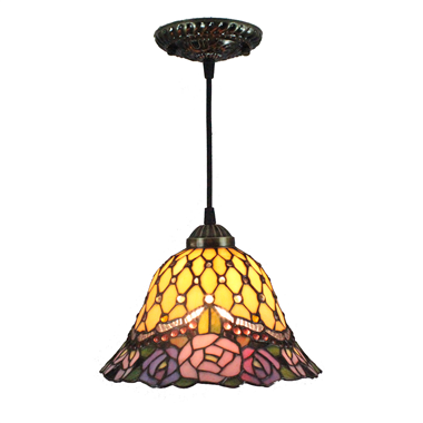 PL080011 8 inch Tiffany Style Pendant Lamp stained glass hanging lighting