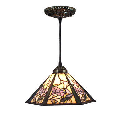 PL080012 8 inch Tiffany Style Pendant Lamp stained glass hanging lighting