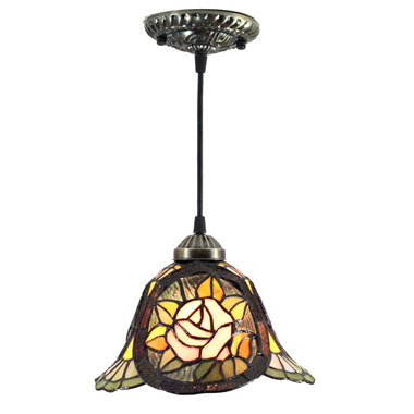 PL080013 8 inch Tiffany Style Pendant Lamp stained glass hanging lighting