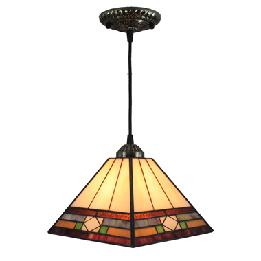 PL080014 8 inch Tiffany Style Pendant Lamp stained glass hanging lighting