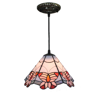PL080015 8 inch Tiffany Style Pendant Lamp stained glass hanging lighting 15