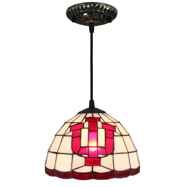 PL080016 8 inch letter Advertisement Tiffany Style Pendant Lamp stained glass hanging lighting