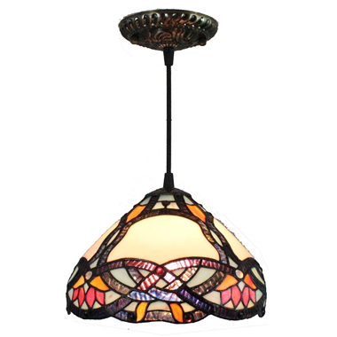 PL080017 8 inch Tiffany Style Pendant Lamp stained glass hanging lighting