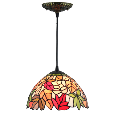 PL080018 8 inch Tiffany Style Pendant Lamp stained glass hanging lighting