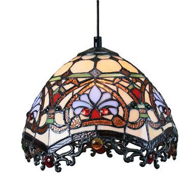 PL080019 8 inch Tiffany Style Pendant Lamp stained glass hanging lighting