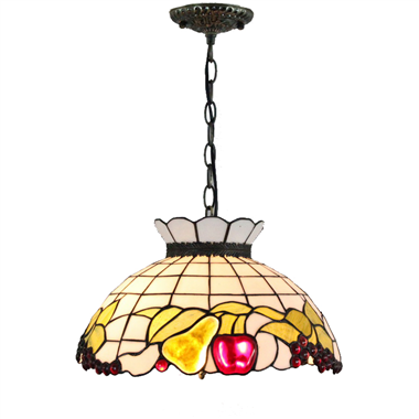 PL160001 16 inch Fruits Tiffany Style Pendant Lamp stained glass hanging lighting