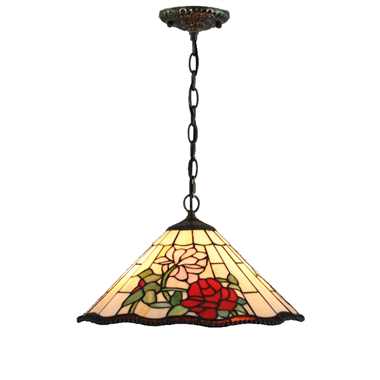 PL160005 16 inch Flower Tiffany Style Pendant Lamp stained glass hanging lighting
