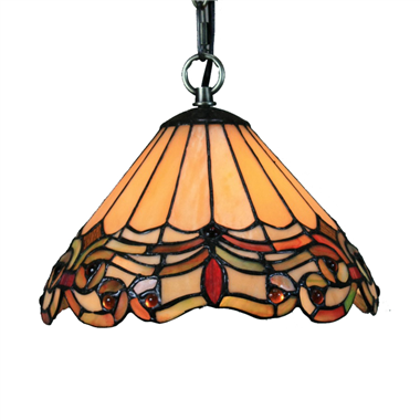 PL160006 16 inch Tiffany Style Pendant Lamp stained glass hanging lighting