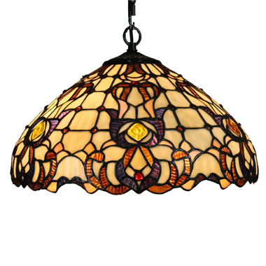 PL160007 16 inch classical Tiffany Style Pendant Lamp stained glass hanging lighting