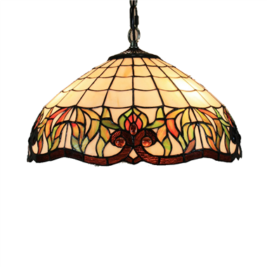 PL160009 16 inch Flower Tiffany Style Pendant Lamp stained glass hanging lighting