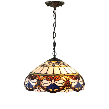 PL160010 16 inch classica Tiffany Style Pendant Lamp stained glass hanging lighting