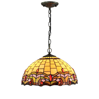 PL160012 16 inch classica Tiffany Style Pendant Lamp stained glass hanging lighting