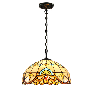 PL160013 16 inch classica Tiffany Style Pendant Lamp stained glass hanging lighting