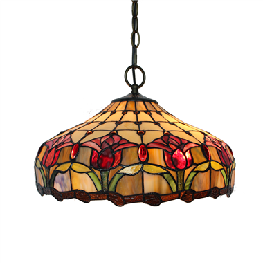 PL160014 16 inch classica Tiffany Style Pendant Lamp stained glass hanging lighting