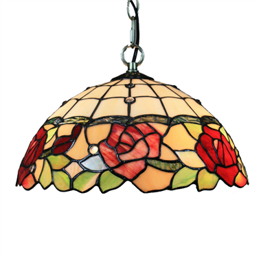 PL160019 16 inch Flower Tiffany Style Pendant Lamp stained glass hanging lighting