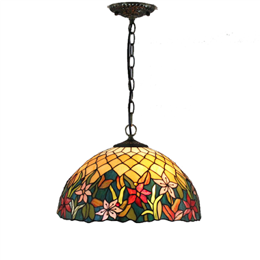 PL160023 16 inch Flower Tiffany Style Pendant Lamp stained glass hanging lighting