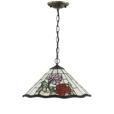 PL160025 16 inch Flower Tiffany Style Pendant Lamp stained glass hanging lighting
