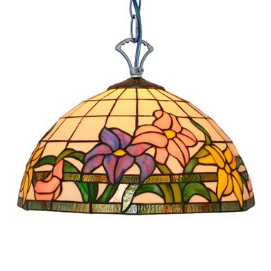 PL160026 16 inch Flower Tiffany Style Pendant Lamp stained glass hanging lighting
