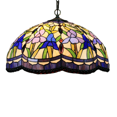 PL160029 16 inch classica Tiffany Style Pendant Lamp stained glass hanging lighting