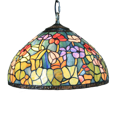 PL160030 16 inch classica Tiffany Style Pendant Lamp stained glass hanging lighting