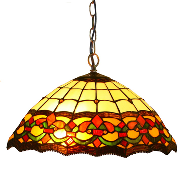 PL160031 16 inch classica Tiffany Style Pendant Lamp stained glass hanging lighting