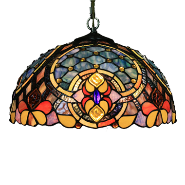 PL160032 16 inch classica Tiffany Style Pendant Lamp stained glass hanging lighting