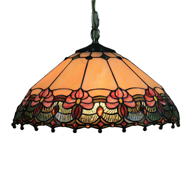 PL160033 16 inch classica Tiffany Style Pendant Lamp stained glass hanging lighting