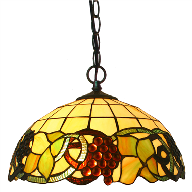 PL160034 16 inch classica Tiffany Style Pendant Lamp stained glass hanging lighting