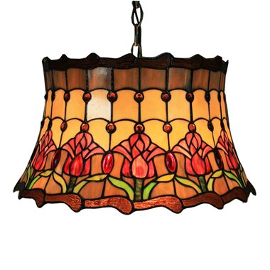 PL160035 16 inch classica Tiffany Style Pendant Lamp stained glass hanging lighting