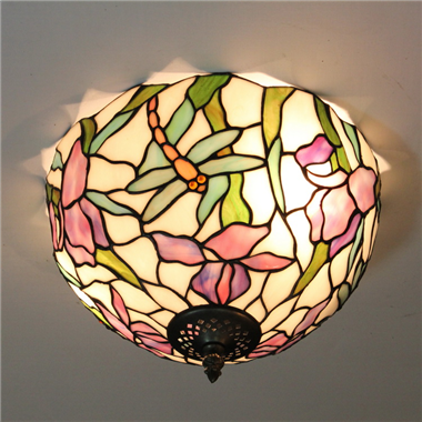CE120008 12 inch Tiffany Style ceiling lamp Tiffany Bedroom Ceiling Light Flush Mount Ceiling Lighti