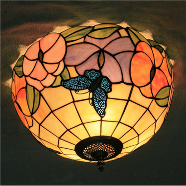 CE120009 12 inch Tiffany Style ceiling lamp Tiffany Bedroom Ceiling Light Flush Mount Ceiling Lighti