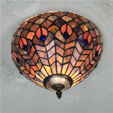 CE120011 12 inch Tiffany Style ceiling lamp Tiffany Bedroom Ceiling Light Flush Mount Ceiling Lighti