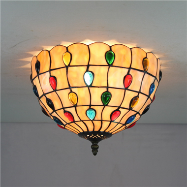CE120012 12 inch Tiffany Style ceiling lamp Tiffany Bedroom Ceiling Light Flush Mount Ceiling Lighti